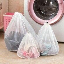 3 size coulisse calzini biancheria intima del reggiseno pieghevole sacchetto della lavanderia della maglia vestiti per la casa accessori per la cura di lavanderia