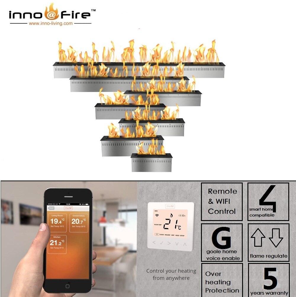 Inno-fogo 48 polegadas bio etanol lareira de vidro etanol queimador inteligente