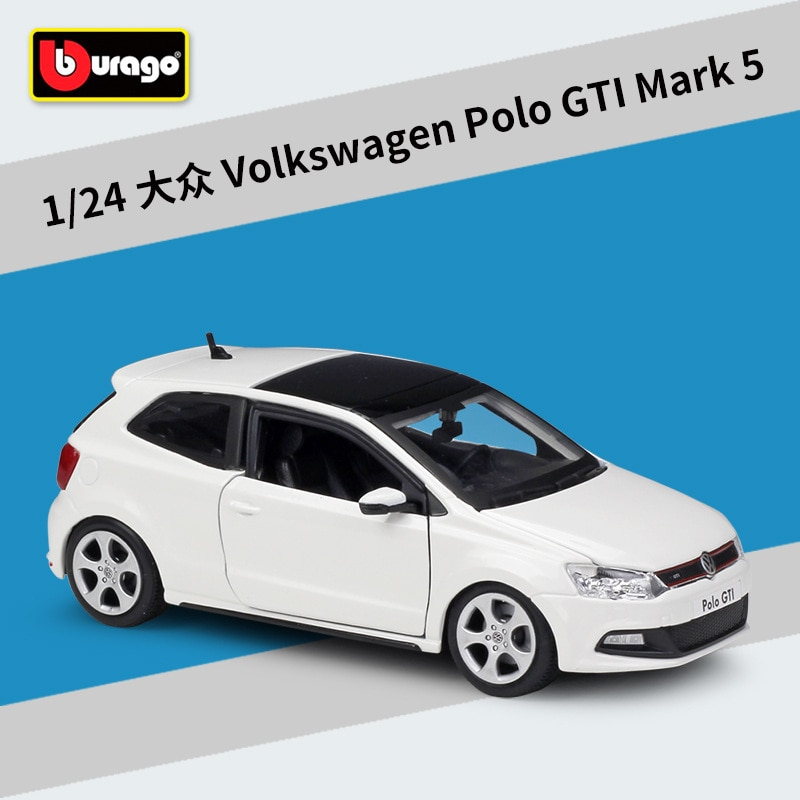 Bburago 124 Volkswagen POLO GTI MARK 5 brinquedo modelo de carro liga de simulação Coletar presentes