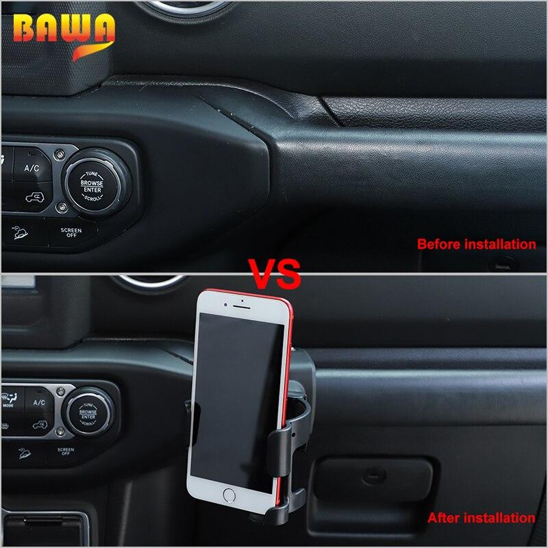 BAWA Multifunction Car Phone Holder Cup Bracket For Jeep Wrangler JL 2018 Jeep Gladiator JT 2018 Car Accessories Interior Parts enlarge