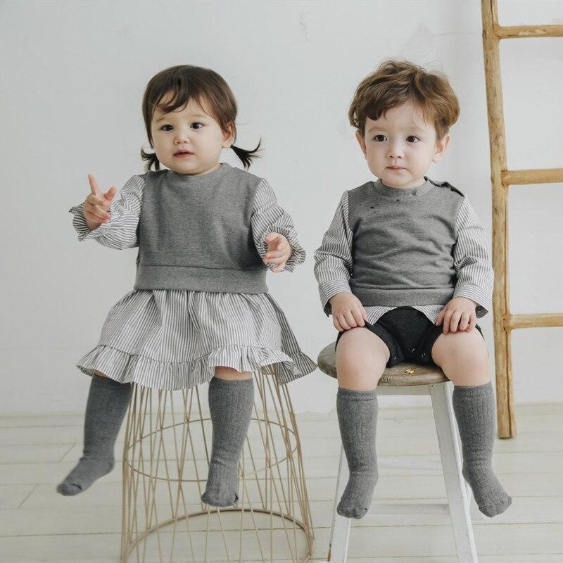 ملابس متنوعة للأطفال ، مجموعة جديدة 2021 ، أزياء الأطفال ، البنات والأولاد ، رومبير على الطراز الكوري