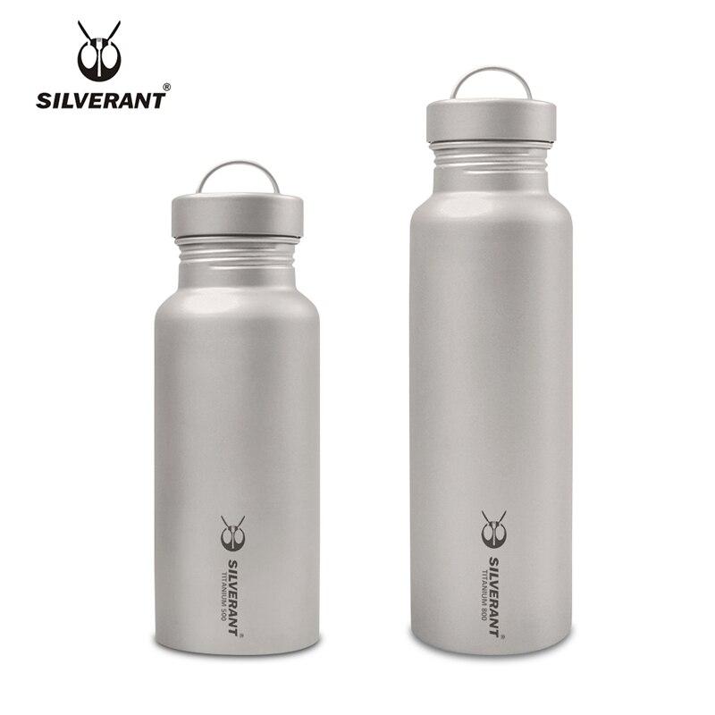Botellas de té de agua de titanio puro, termos portátiles, equipo de viaje para acampar al aire libre EDC, herramientas de 500ml y 800ml