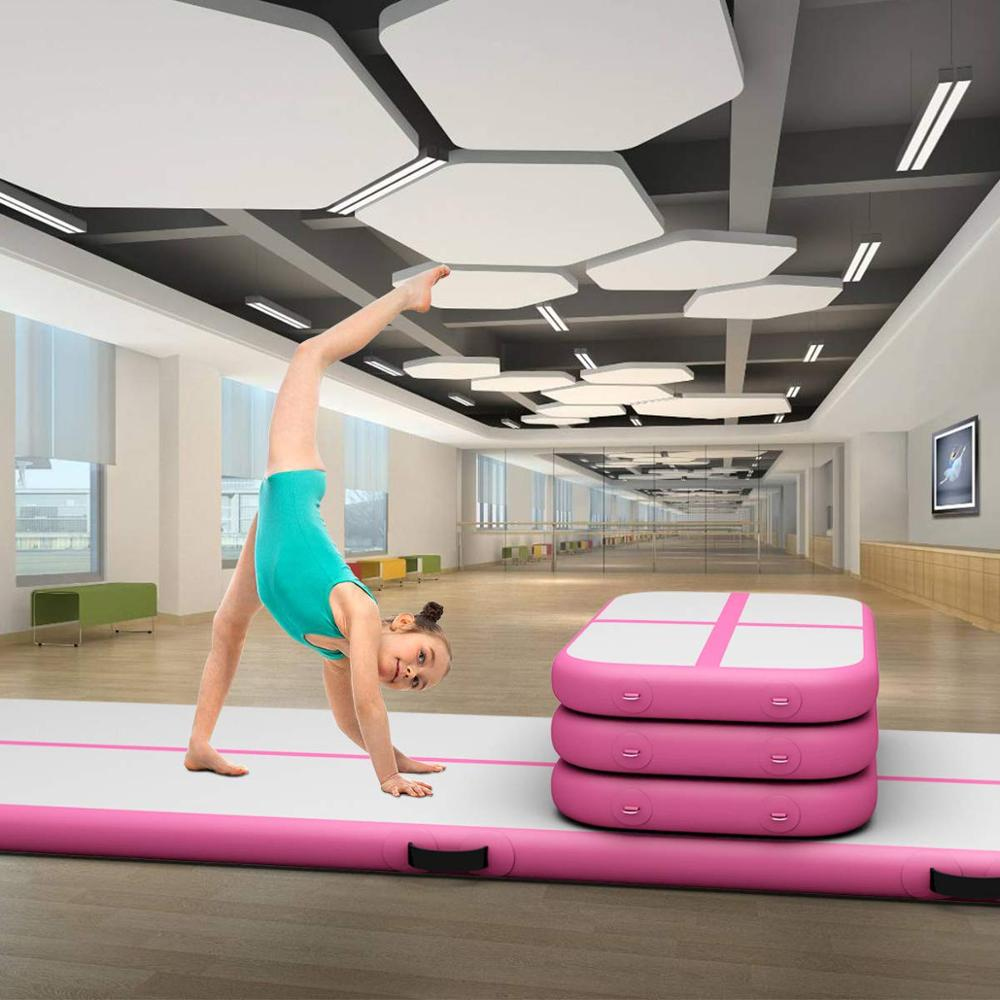 Colchão infantil de 1m para ginástica, caminhão inflável para ginástica no chão, ginástica e yoga, para parque/praia água/uso doméstico