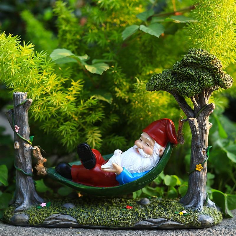 راتنج حلو حديقة النوم تمثال جنوم مضحك الأقزام مخزن الحديقة الحلي ل منضدة المكتب المنزلي ديكور داخلي في الهواء الطلق حلية