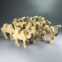 Singel Camel Block Animal Figures Desert Camel Building Blocks Sets MOC DIY Accessories Kids Educaitonal Toys Gifts
