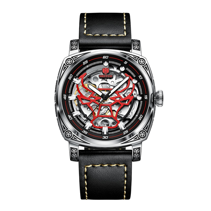 Self-Winding Mechanical Watch Men's Engraving Hollow Craft Luxury Luminous Waterproof Top Quality Re