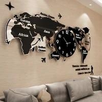 large 3d wall clock modern design acrylic clocks home decor wall watches silent creative living room decorative black gift