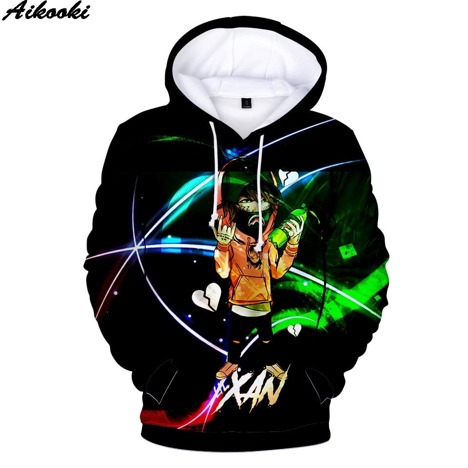 Neueste lil xan-x xanarchy 3D Hoodies Männer Teenager Herbst Persönlichkeit Mode Hip Hop Hoodie Drucken lil xan-x Sweatshirts Tops Hoodie