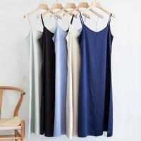 fashion high quality womens dress summer spaghetti satin long woman dress very soft smooth plus size s 4xl