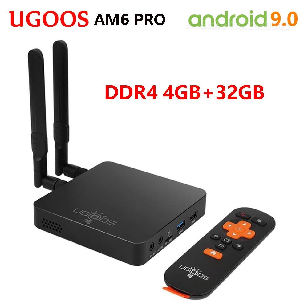 UGOOS AM6 Pro Tv caja Android 9,0 Amlogic S922X Quad-Core 4GB DDR4 32GB 5G Wifi 1000M LAN BT5.0 4K HD Set de reproductor multimedia Top Box