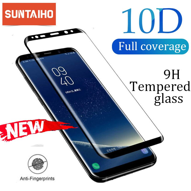 Suntaiho מלא מעוקל מסך מגן לסמסונג גלקסי הערה 10 S8 S9 בתוספת הערה 8 9 מזג זכוכית סרט עבור סמסונג A6 A8 2018