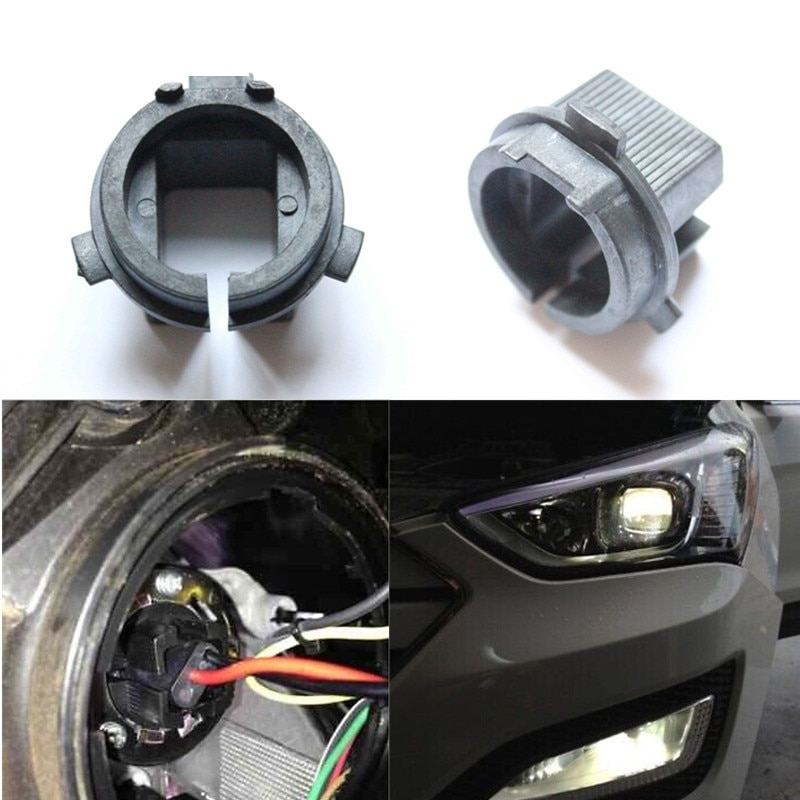 Car H7 HID base for Hyundai Genesis Coupe Veloster H7 HID headlight adaptor for KIA K4 K5 H7 HID Xenon bulb holder adapter