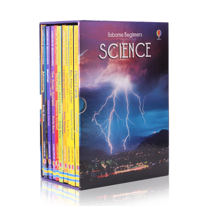 10 books gift box set English Usborne Beginners Science Primary Science 6-12 Years early education picture story book hard cover