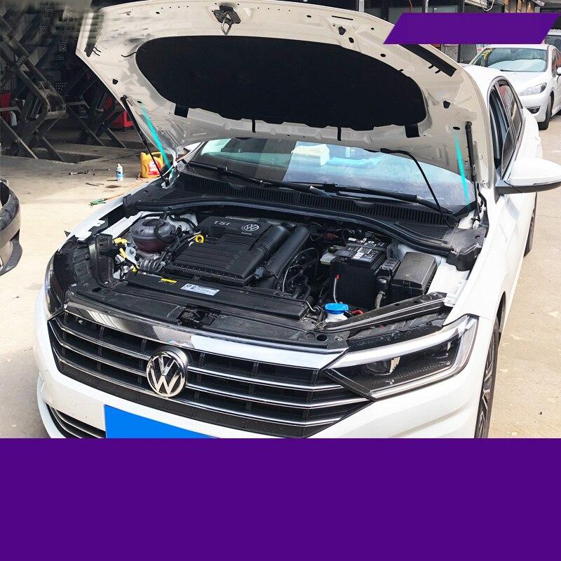ForJetta MK7 cubierta frontal del motor de la cubierta de apoyo de la barra hidráulica del puntal de las barras de choque del resorte 2018 2019 2020