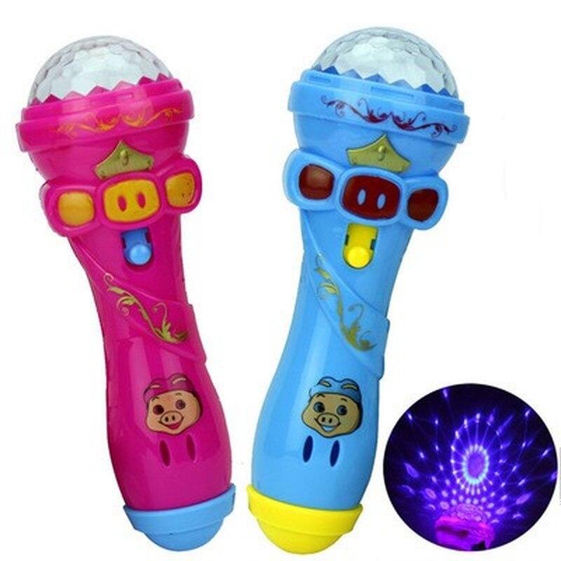 1 pçs fulgor vara microfone estilo brinquedo luz microfone brinquedo brilhante música piscando cantando engraçado presente música brinquedo festa flash varas