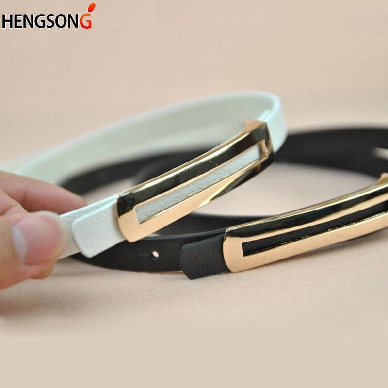 Luxury Metal Buckle Thin Belt For Women Classic Wild Minimalist Thin waist Belt Waistband Cummerbund