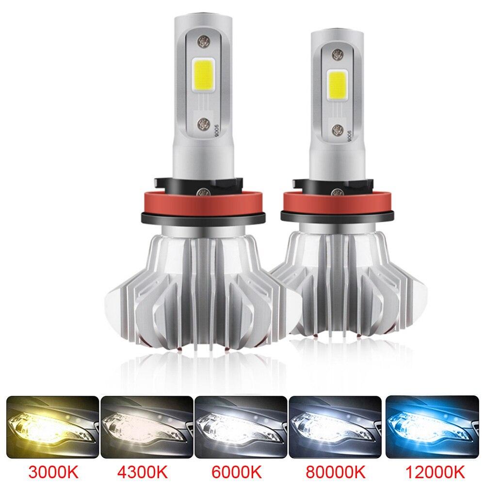 Elglux H1 H3 H4 H7 H11 LED lámpara de hielo para coche Atuo diodo lámparas para coches H4 bombilla Led para motocicleta H1 H7 9006 HB4 LED HB3