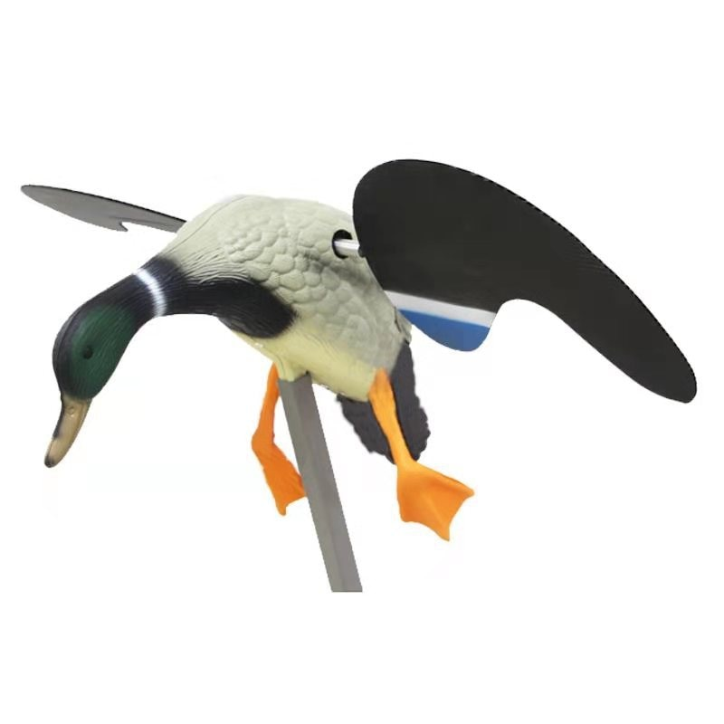 Качественное моделирование электрической охотничьей приманки Мужская утка на батарейках крылья можно перемещать охотничьи приманки принадлежности для утки