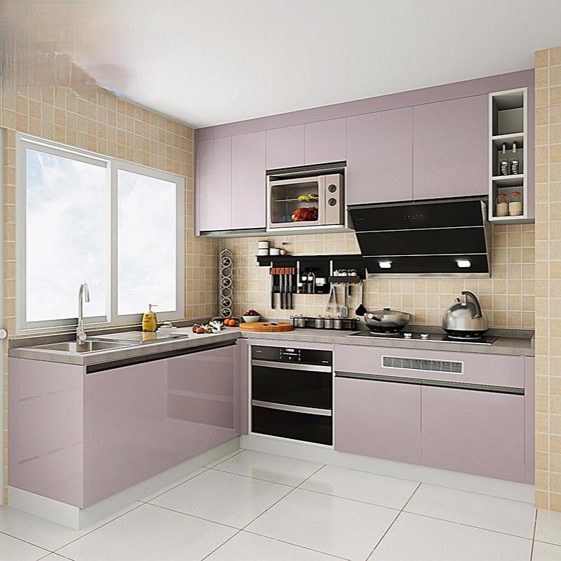 خزائن مخصصة الحديثة بسيطة متعددة الوظائف خزائن مفتوحة عموما على شكل حرف U مخصص الاقتصاد المطبخ