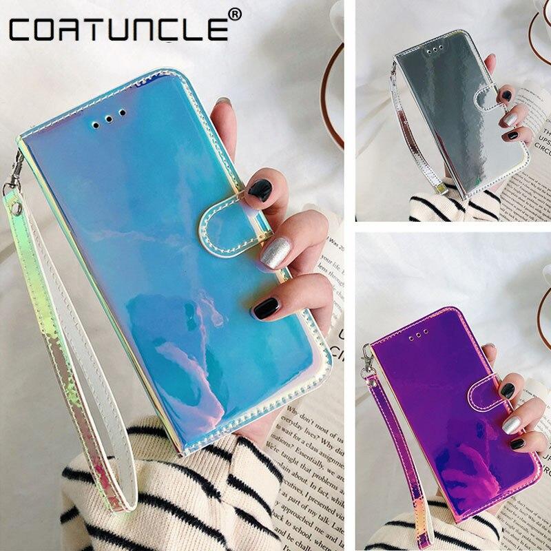 Funda de cuero con tapa brillante 3D para Xiaomi Mi A3 9T Note 10 Pro, funda para Xiaomi Redmi K20 Pro, funda para teléfono