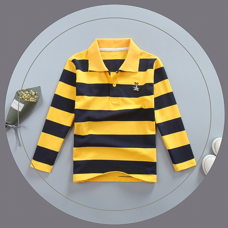 Polo de manga larga para niños y adolescentes, blusa para niños de...