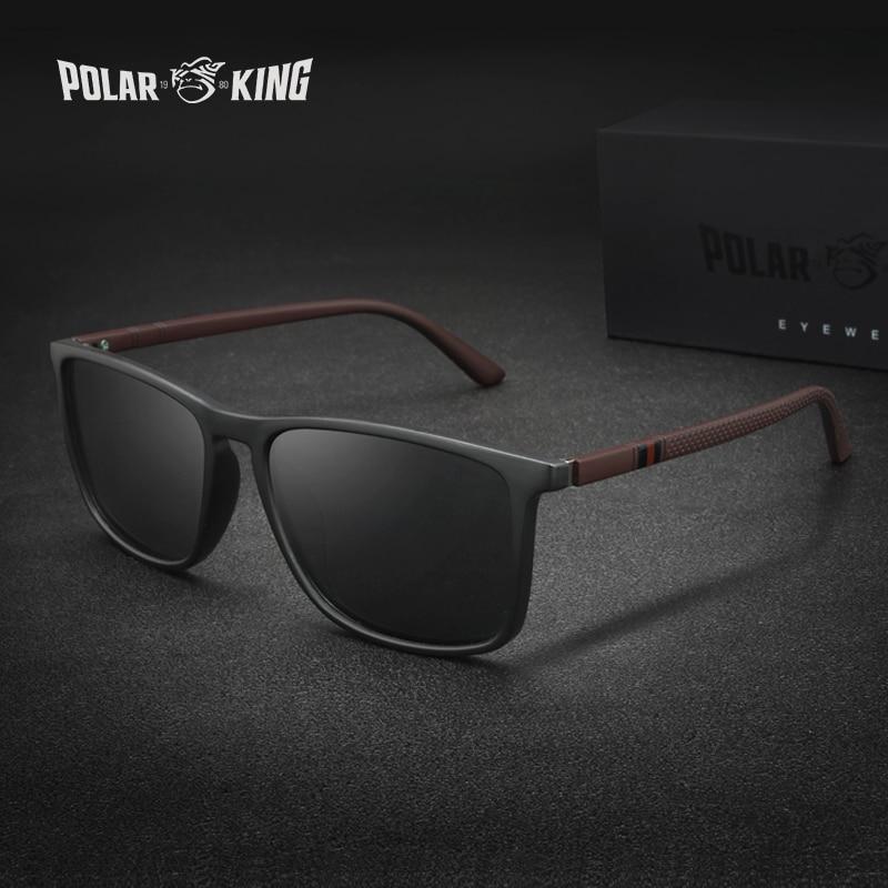 Солнцезащитные очки Polarking 400 мужские, роскошные поляризационные Классические солнечные очки в винтажном стиле, для вождения, рыбалки и путе...