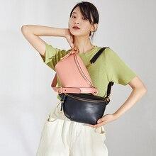 2020 prawdziwej skóry kobiet Crossbody torba modna saszetka biodrowa luksusowa torba na ramię znanej marki łańcuszek do spodni kobiet torba Bolsa Feminina