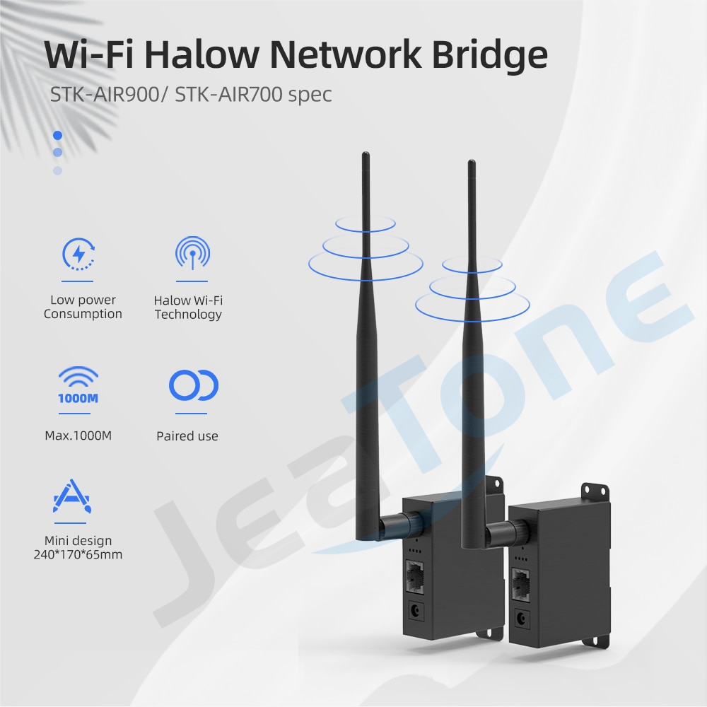 Jeatone one pair Wireless Omnidirectional Antenna Network Bridge with 3000ft Transmission Distance with Transmitter and Receiver