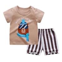 cartoon newborn baby clothes casual 2pcs infant toddler boys t shirt short sleeve fashion boys clothes sets