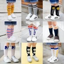 1 Pari Summer Baby Knee Socks for Girls Boys Stripe Cartoon Kids Knee Socks Cotton Soft Elastic Todd