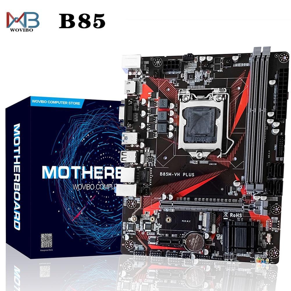 اللوحة الأم لسطح المكتب B85 ، مقبس LGA 1150 ، DDR3 ، VGA USB 3.0 M.2 ، لوحدة المعالجة المركزية Intel LGA1150 I3 I5 I7 Xeon