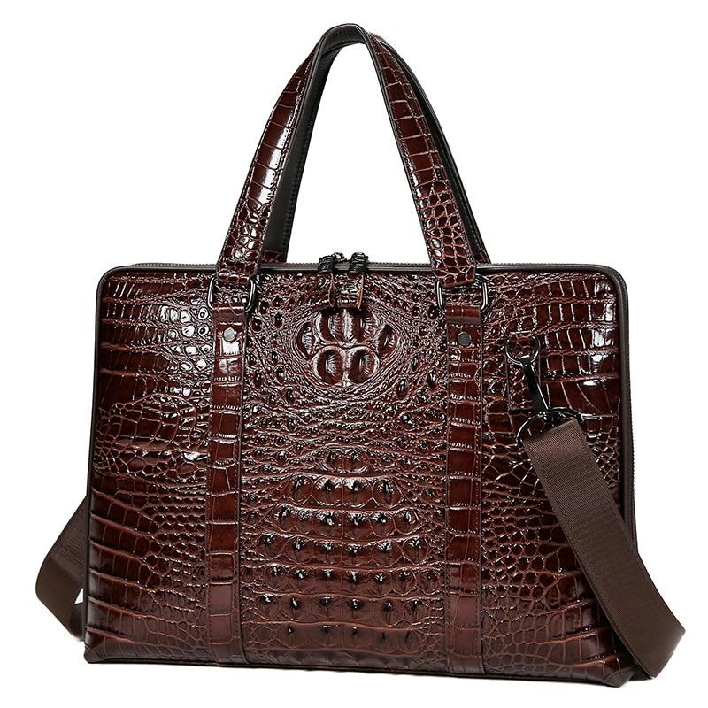 men's genuine leather computer portfolio bag business handbag, shoulder bag, large capacity briefcase mens office free shipping