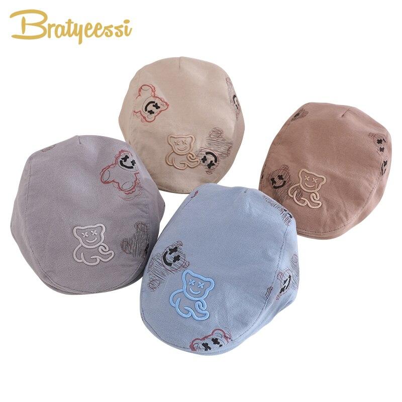 Мультяшный берет, шапка для маленьких мальчиков и девочек, детская шапка, Модная хлопковая шапка для малышей, детская шапка, аксессуары для ...