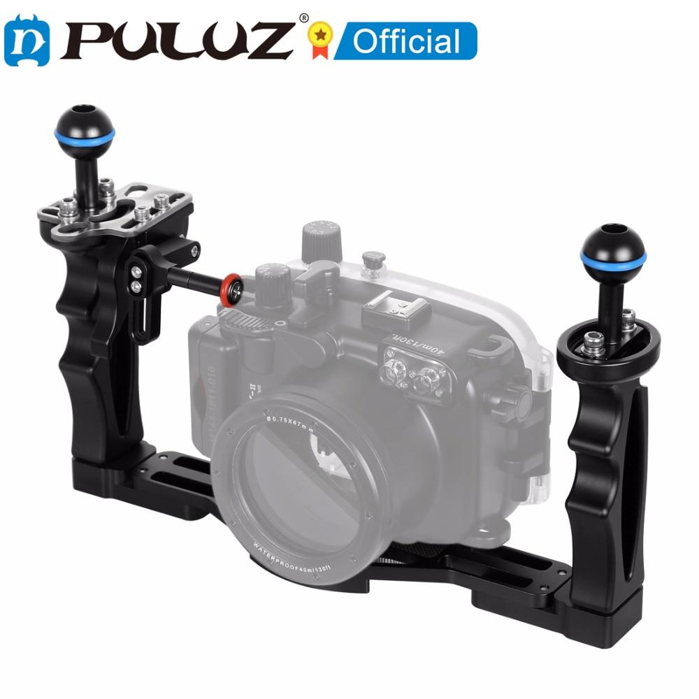 PULUZ-estabilizador de bandeja con asas dual de adaptador de extensión de disparador...