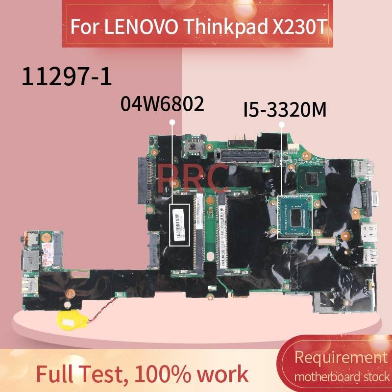 Get 04W6802 04Y2036 04W6716 04X3740 For LENOVO Thinkpad X230T X230 Tablet I5-3320M Laptop motherboard 11297-1 Notebook Mainboard
