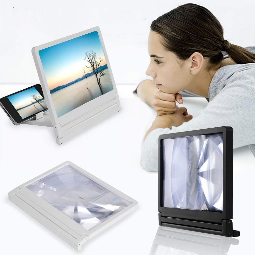 3D lupa de la pantalla del teléfono móvil HD amplificador de vídeo para soporte de Smartphone ampliadora HD Video lupa de vidrio