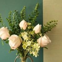artificial rose bouquet decoration for room patio house office wedding bouquet table flowers arrangement bouquet decor