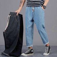 Plus de taille 42 46 48 hommes mode jean 2020 nouveau automne hiver hommes en vrac Denim Harem pantalons décontracté pour les vêtements de marque de jean