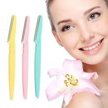 1PC Portable Eyebrows Trimmer Women Facial Face Razor Blades Shaver Portable Hair Remover Set Eyebro