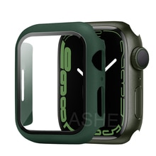 For Apple Watch Series 7 Screen Protector Case 41mm 45mm HD Tempered Glass Full Protection for iWatc