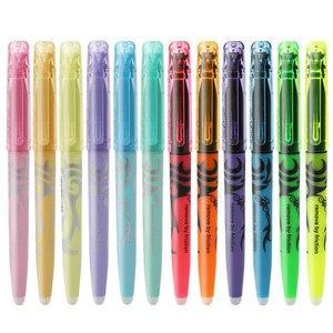 6pcs/set Erasable Highlighter Pastel Color Fluorescent Marker Pen 12 Colors Japan