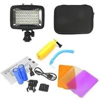 orsda gopro light 40m underwater waterproof diving camera light with high brightness led for gopro xiao yi sjcam sports camera