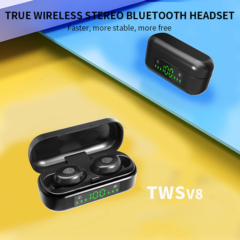 earbuds Bluetooth Earphone Wireless Headphone Stereo Headset Sport Earbuds Microphone With Charging