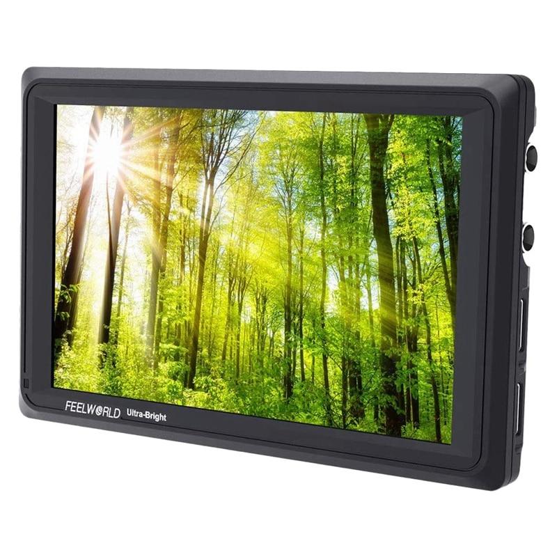 Saída de Entrada Feelworld Polegada Ultra Brilhante 2200nit Dslr Câmera Campo Monitor Completo hd 1920×1200 3g Sdi 4k Hdmi Fw279s 7