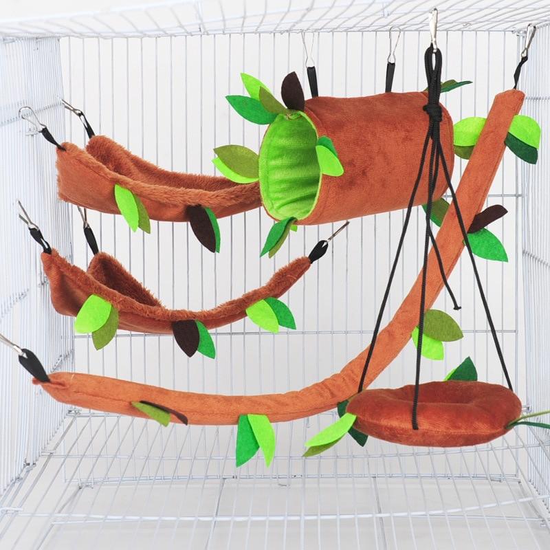 Juguete pequeño animal Hamster Jaula Conejo nido casa transpirable portátil bolso Para...