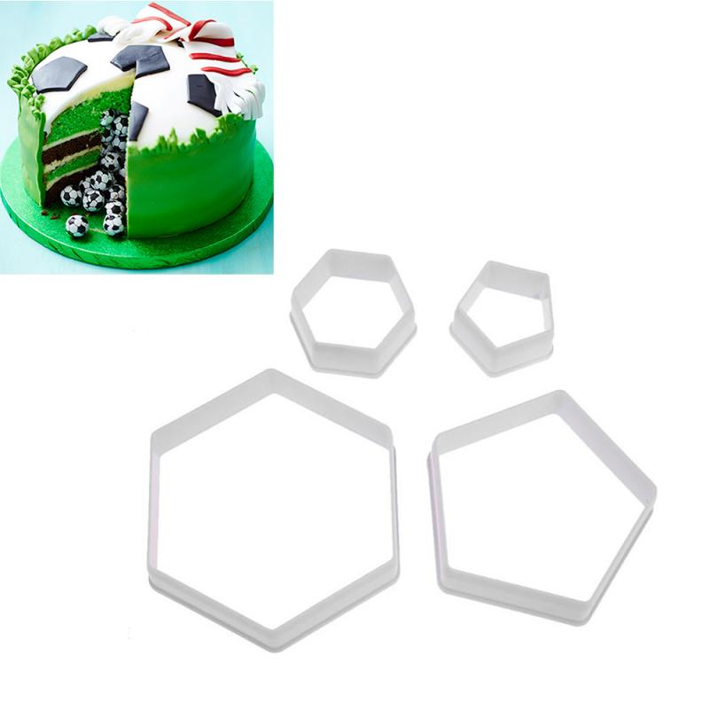 4 шт. форма для футбольного печенья, форма для футбола, украшение для торта из помадки, форма для сахарной мастики, инструменты