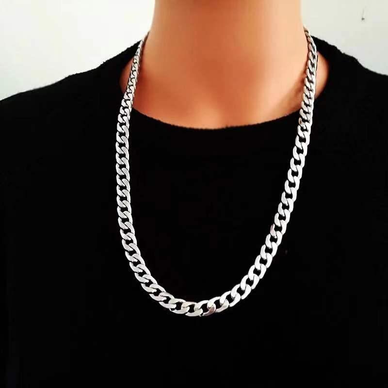 Бесплатная доставка простой мужской скрученный широкий сплав цепь ожерелье в панк-стиле Вечерние рок-группы ювелирные изделия подарок на день рождения новые аксессуары