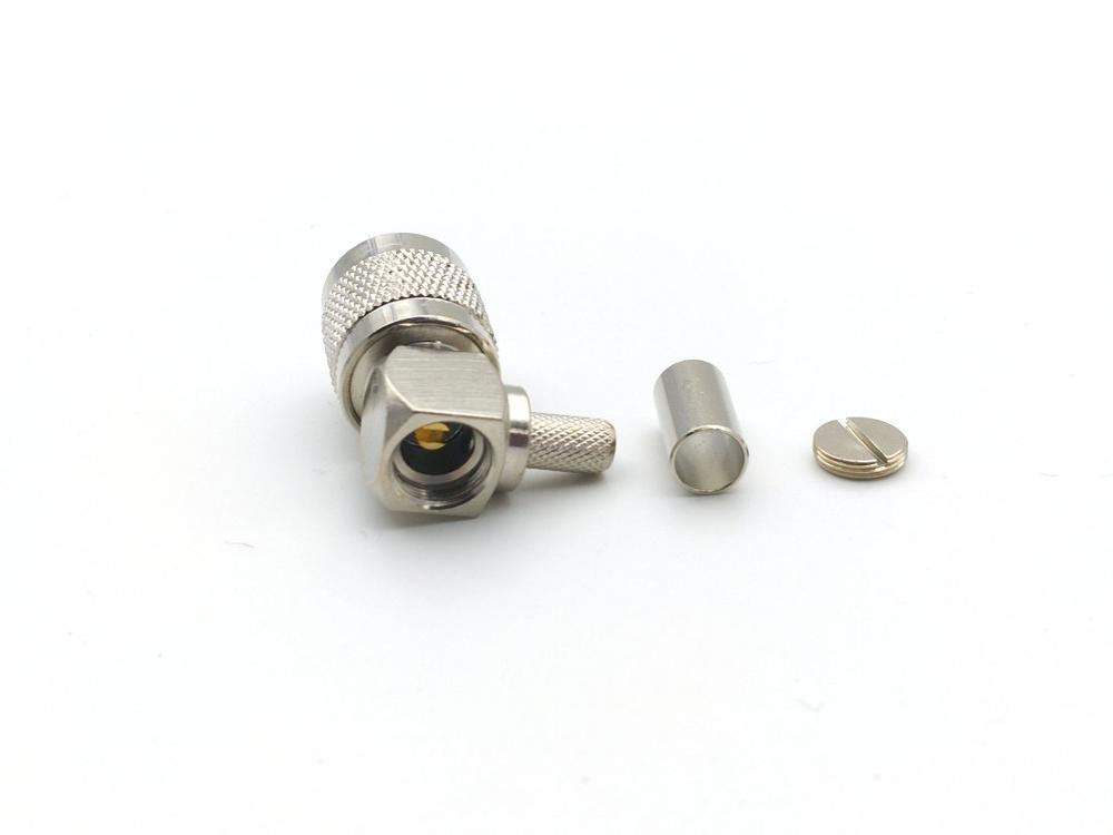50 قطعة النحاس RF TNC التوصيل ذكر موصل تجعيد LMR195 RG58 RG400 RG142 كابل