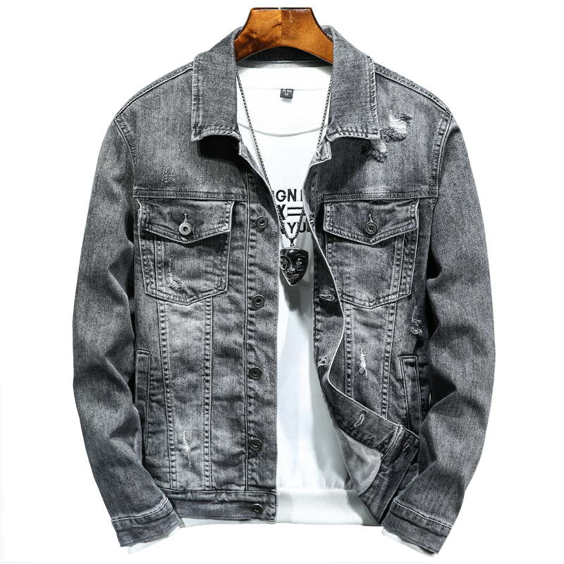 2020 Spring AutumnNew Fashion Men's Denim Jackets Coats Men cotton Jacket Mens Jean Jacket Outwear Male Cowboy dimusi spring autumn mens denim jacket mens trendy fashion bomber thin ripped denim jacket male cowboy jeans jackets 4xl ta341