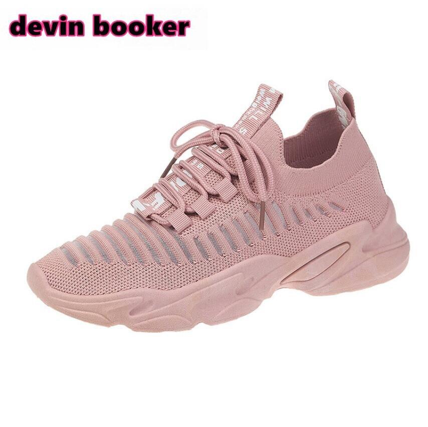 Novedad Venta caliente primavera y verano tejer mujeres transpirables zapatillas Deportivas Zapatos DB-100